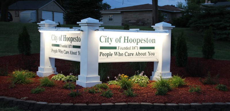 hoopeston sign