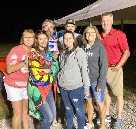 Hoopeston Jaycees during the fireworks at the Hoopeston soccer fields.